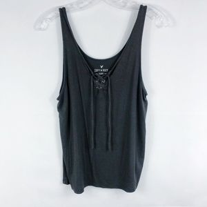 American Eagle | Soft & Sexy Lace Up Tank Top